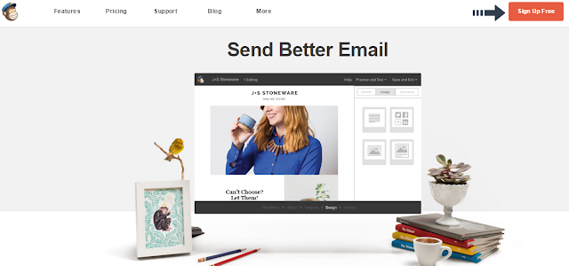 signup with mailchimp