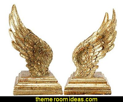 Wing Book Ends angel wings book ends angel bedroom decor angel bedrooms