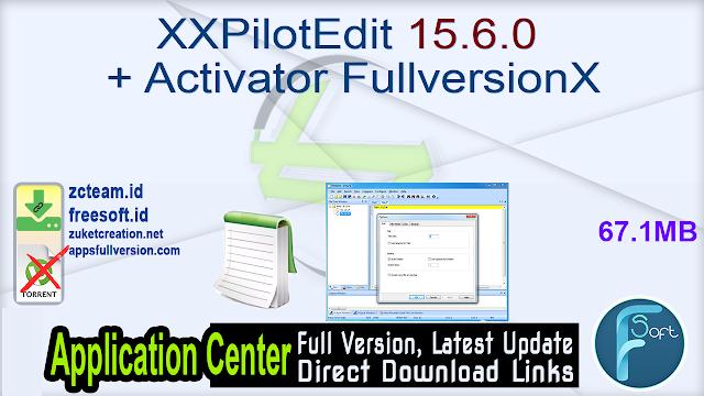 PilotEdit 15.6.0 + Activator Fullversion