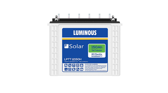 Luminous LPTT12150H 150Ah Solar Tall Tubular Battery