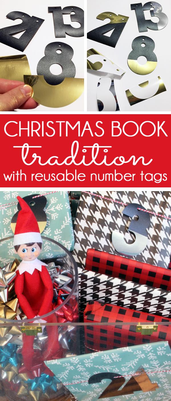 Reusable Gift Tags for Christmas Books made with Cricut