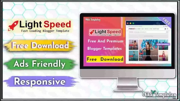 (Orginal) Light Speed - Responsive Blogger Template - {Free Download}