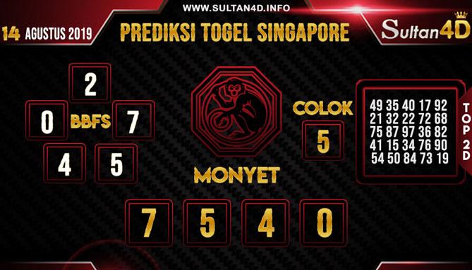 PREDIKSI TOGEL SINGAPORE SULTAN4D 14 AGUSTUS 2019