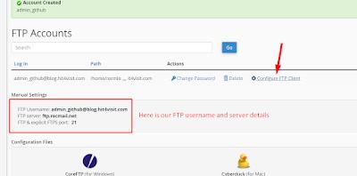 FTP Accounts Details