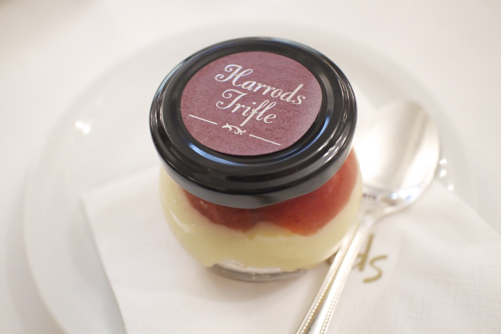 harrods afternoon tea - trifle in the georgian