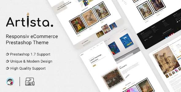 Best Artist and Painting Designers Agency PrestaShop Theme