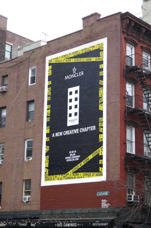 Moncler new creative chapter billboard