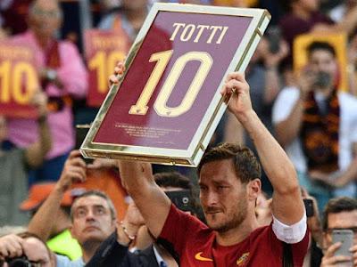 FRANCESCO Totti mengucapkan selamat tinggal terhadap Roma