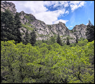 Granite Cliffs North of Bells Canyon Waterfall and Trail