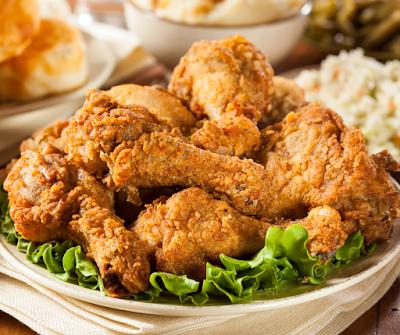 left over fried chicken