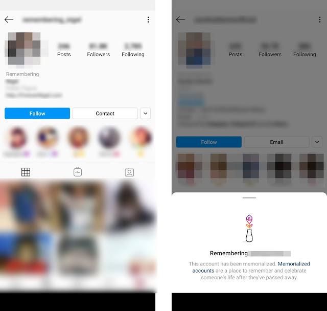 cara Buat 'Memperingat' Akaun Instagram Si Mati