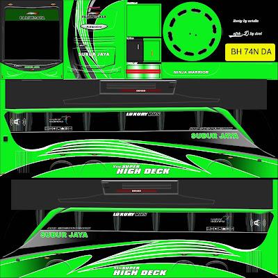 tema bussid subur jaya hijau