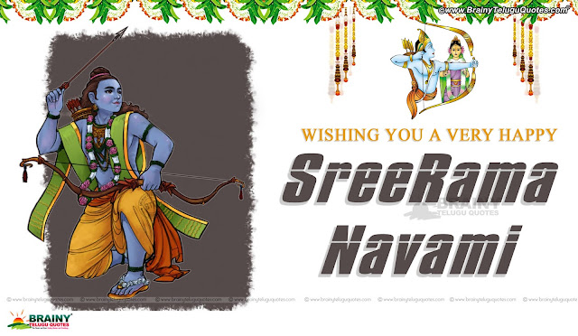 sree ramanavami greetings with hd wallpapers in english, english festival wallpapers with Quotes