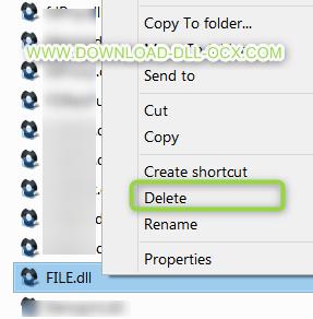 delete dll file