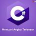 Tutorial Program Mencari Angka Terbesar dengan C# Windows Forms