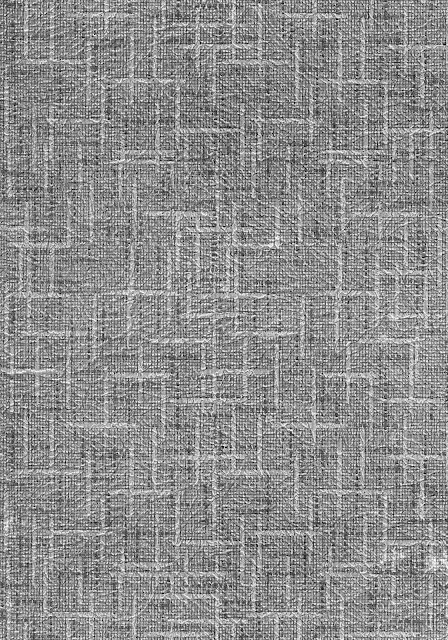 A gray and white linear pattern from the back of a vintage photo frame.