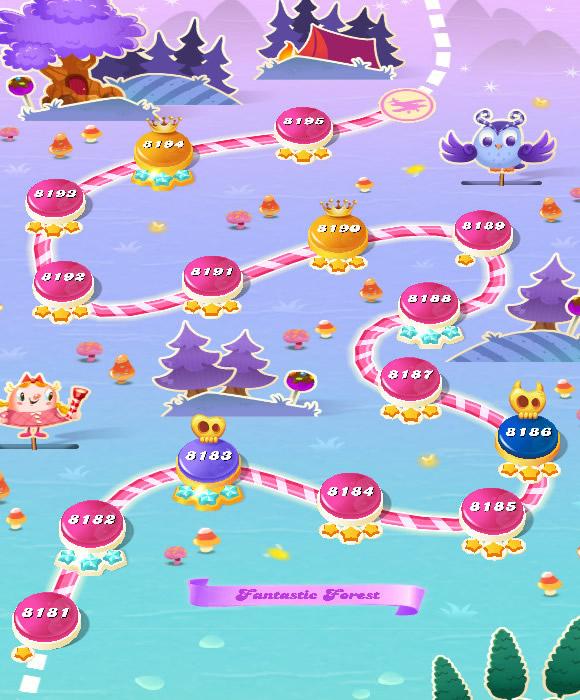 Candy Crush Saga level 8181-8195