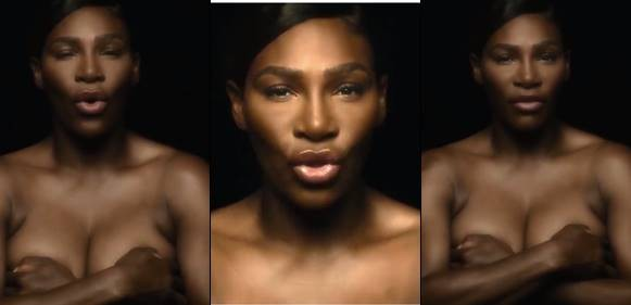Serena Williams goes completely topless in heroic breast cancer video
