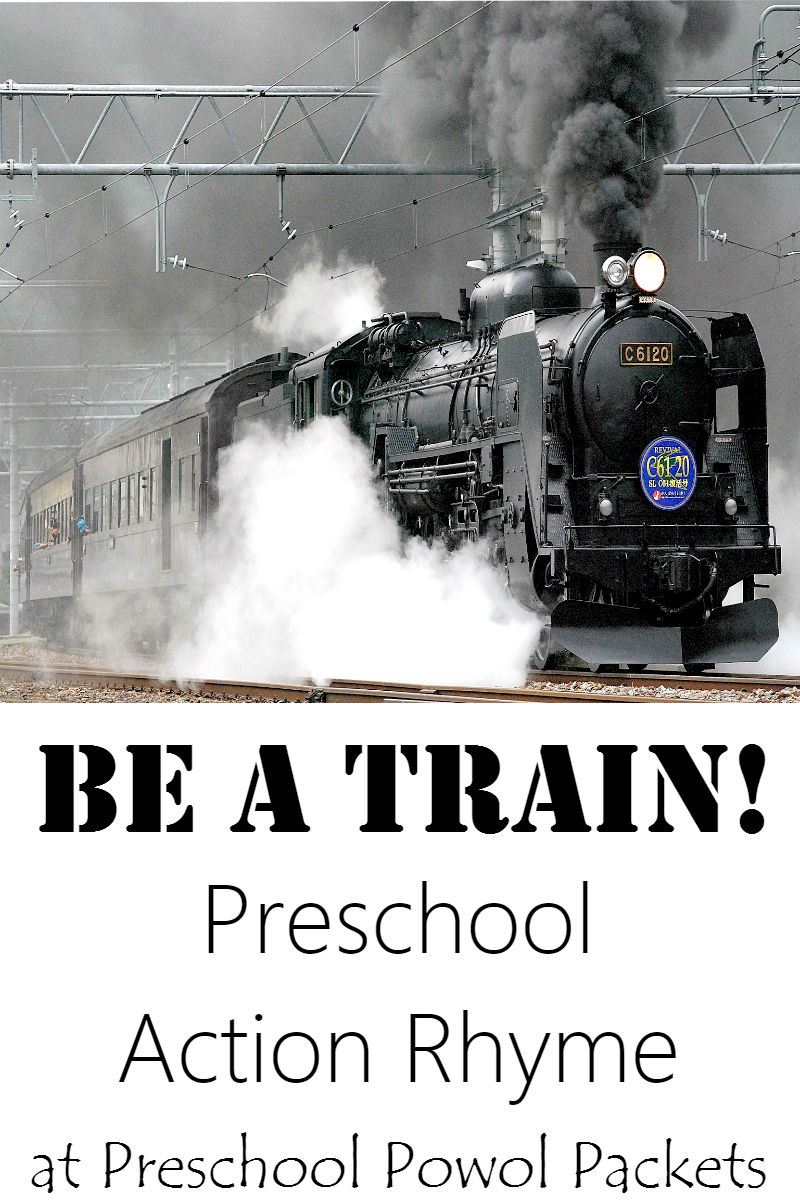action rhymes for kids be a train preschool powol packets