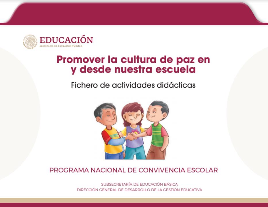Fichero de actividades didácticas para promover la cultura de paz en y desde nuestra escuela