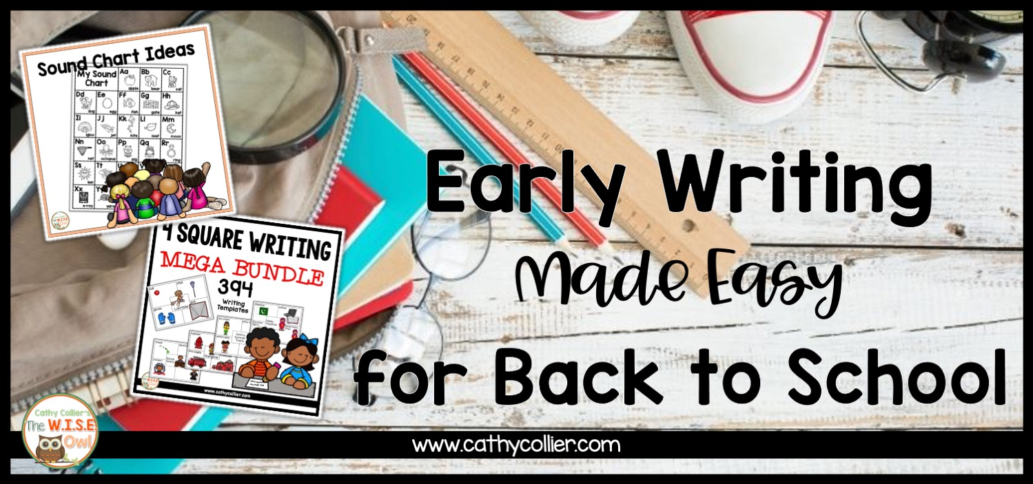 Join this hop as 20+ literacy professionals share Easy Routines for Back to School. Writing early and consistently in early grades is most important.