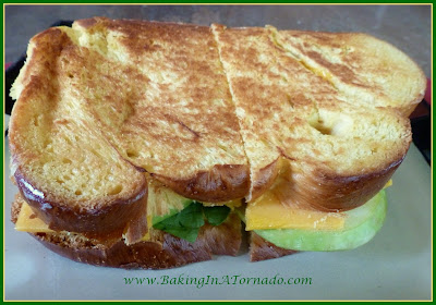 Sour Apple Challah Grilled Cheese | www.BakingInATornado.com | #recipe