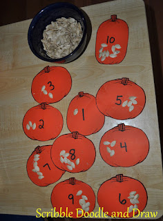 math activity for kindergarten counting pumpkin seeds