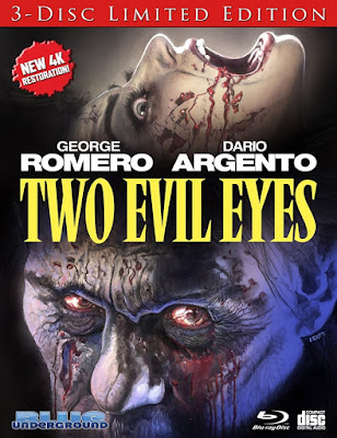Alternate Cover Art for Blue Underground's TWO EVIL EYES: 3-DISC LIMITED EDITION Blu-ray