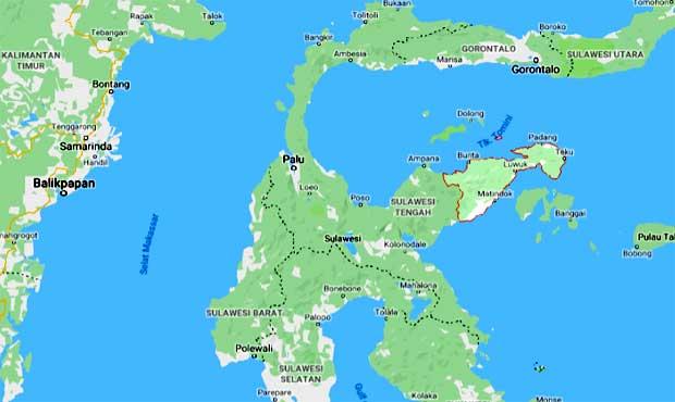 lokasi banggai sulawesi utara