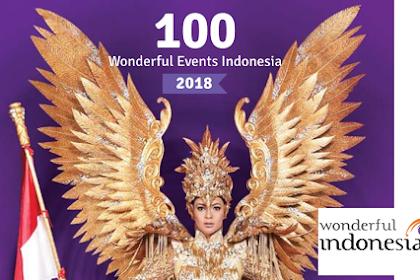 Kalender 100 Kegiatan Wisata Wonderful Events Indonesia, The Archipelago of Events