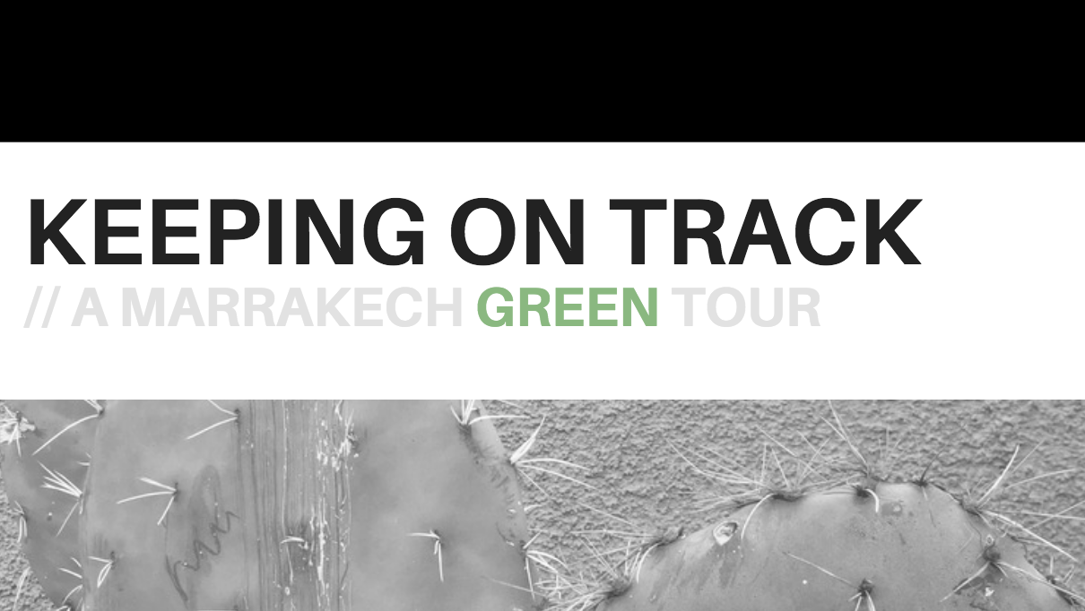 a green walk in Marrakech