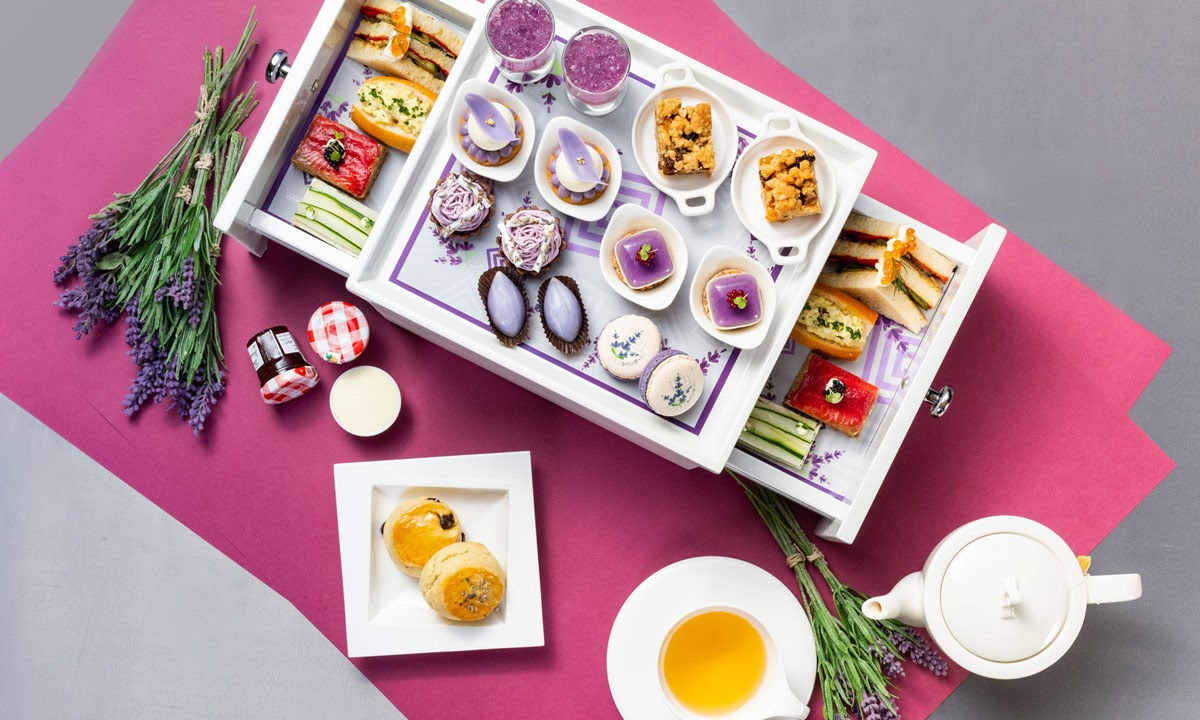 lavender afternoon tea at The Okura Prestige Bangkok