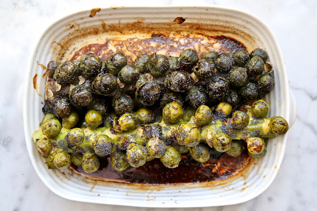 roast Brussels sprouts on a stick pic: Kerstin Rodgers/msmarrmitelover.com
