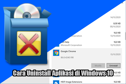 Cara Menghapus (Uninstall) Aplikasi di Windows 10