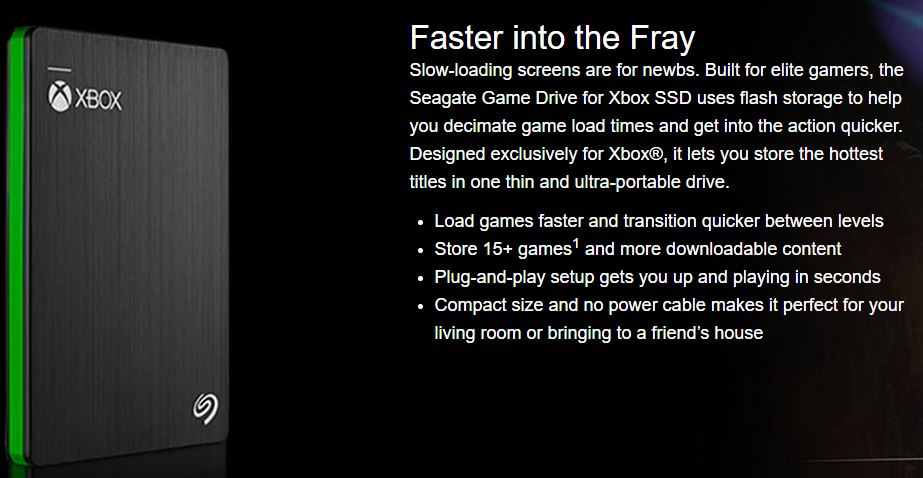 Seagate 512GB SSD Game Drive for Xbox One arrives in November