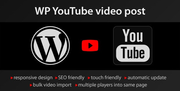 YouTube WordPress plugin v1.4.10 - video import Free Download
