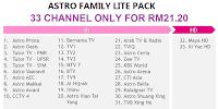 Pakej Astro Paling Murah Family Lite RM21.20 Sebulan