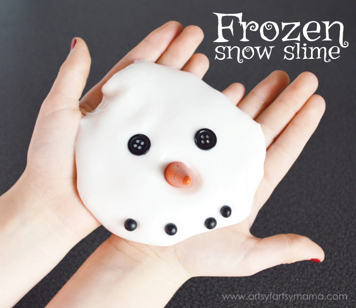 Frozen Snow Slime at artsyfartsymama.com