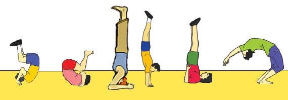 Jenis-jenis gerakan senam lantai, jenis-jenis senam lantai, gerakan senam lantai