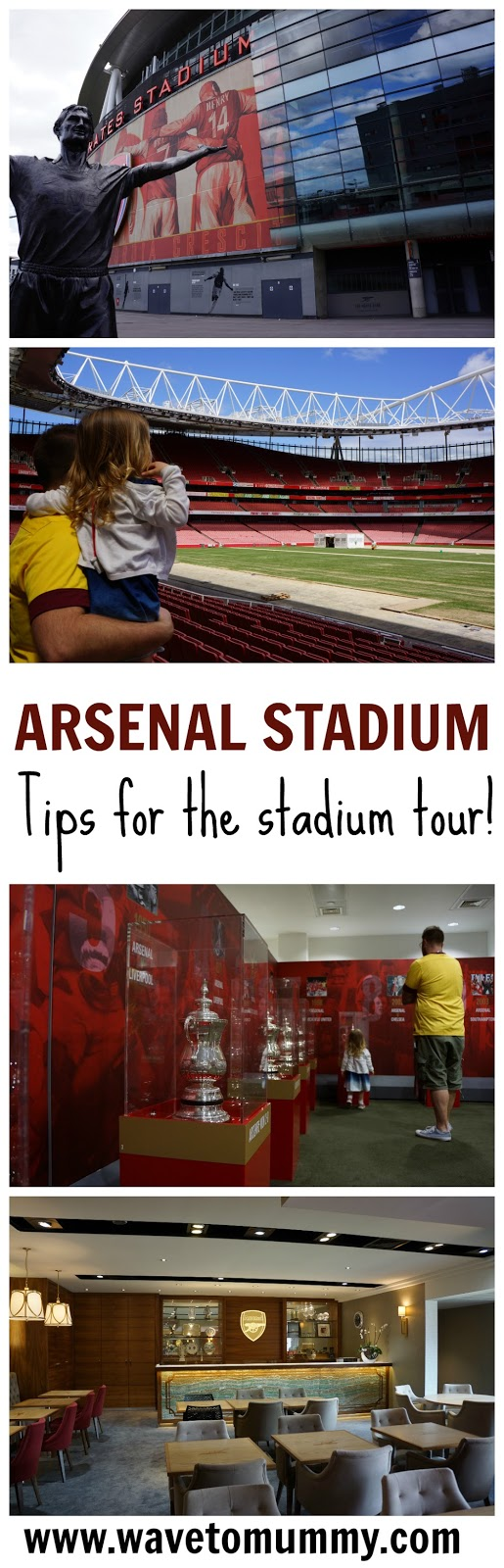 Reviewing the Arsenal Stadium tour in London, UK - lots of pictures and top tips on how to get there and what to do. The post also explains what the tour is like with kids, and how Arsenal Stadium Tour is suitable for families. This is a great place for a Gunners fan to visit, and would be great for any football lovers.