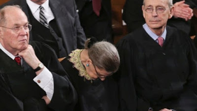 RBG Asleep for SOTU