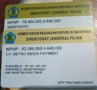 Legalitas CV. Metro Media Payment Metro Reload
