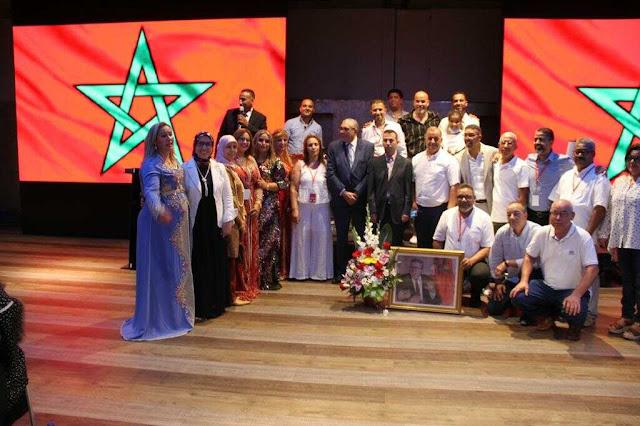 الجالية المغربية بإسبانيا  يحتفلون بذكرى عيد العرش المجيد  .
