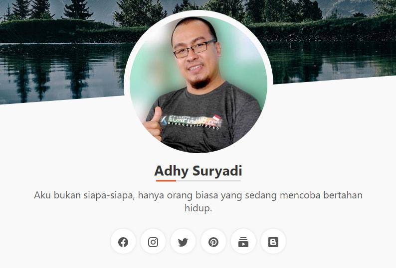Template Profil Untuk Halaman About, Gratis Dari Kompi Ajaib