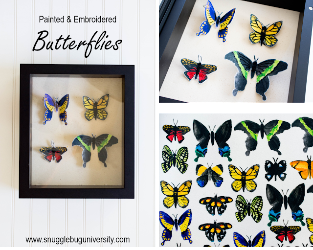 Painted & Embroidered Butterflies