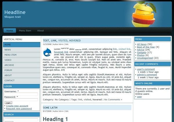 Drupal Themes Free Download Free Drupal 7 Theme Drupal Ligula