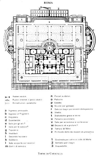 1bf8dff57d71 seppur di poco, rispetto alle Terme di Diocleziano, le Terme di Caracalla  (Thermae Antoninianae) sono uno degli edifici termali meglio conservati di  Roma, ...