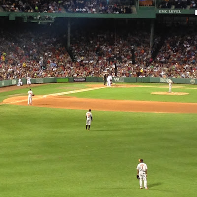 David Ortiz at Bat in Fenway Park, my last time seeing him there during a regular season game