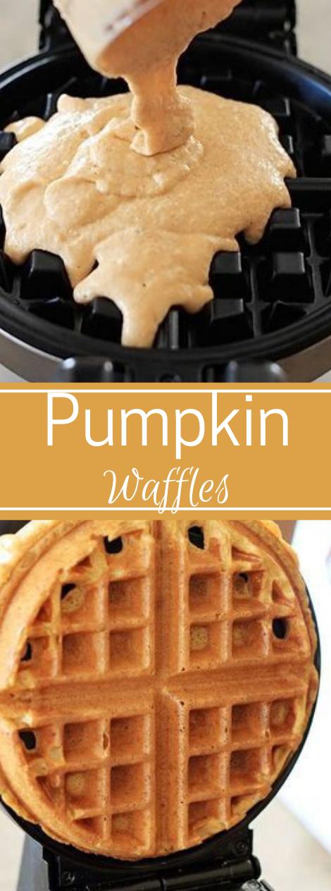PUMPKIN WAFFLES #pumpkin #waffles #recipes #easy #healthy