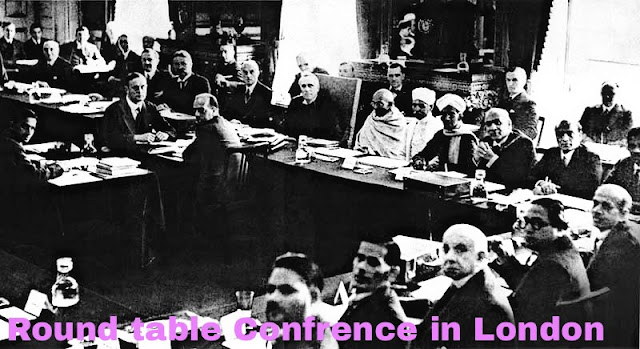 Round table Confrence in Dr.ambedkar And Gandhiji